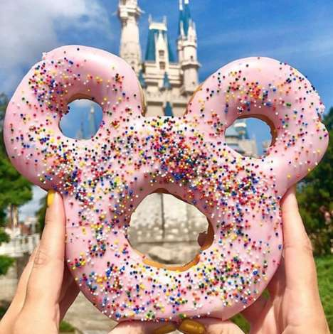 Oversized Mouse-Shaped Donuts