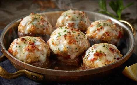 Seafood-Stuffed Mushroom Appetizers