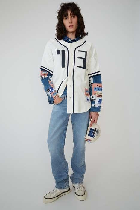 Patched Retro Denim Fashion