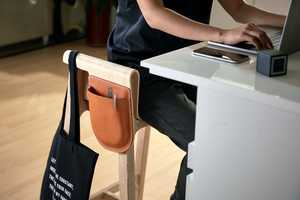 Pocket-Accented Seating Stools