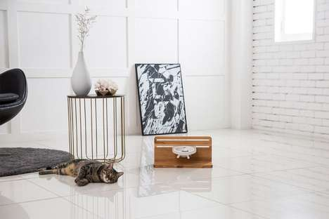 Elevated Feline Dining Sets - The Tuft & Paw Taberu Cat Dining Station Has a Modern Design
