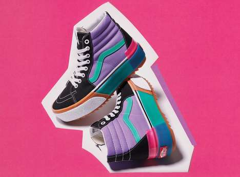 Playfully Whimsical Stacked Sneakers