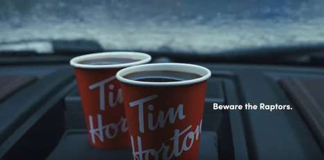 Playoffs-Themed Coffee Ads - Tim Hortons' 'Beware the Raptors' Ad References Jurassic Park