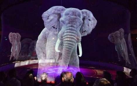 Holographic Circus Animals