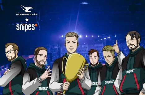 Anime-Informed eSports Collaborations - SNIPES and mousesports' Apparel Boasts Hip Hop Inspiration