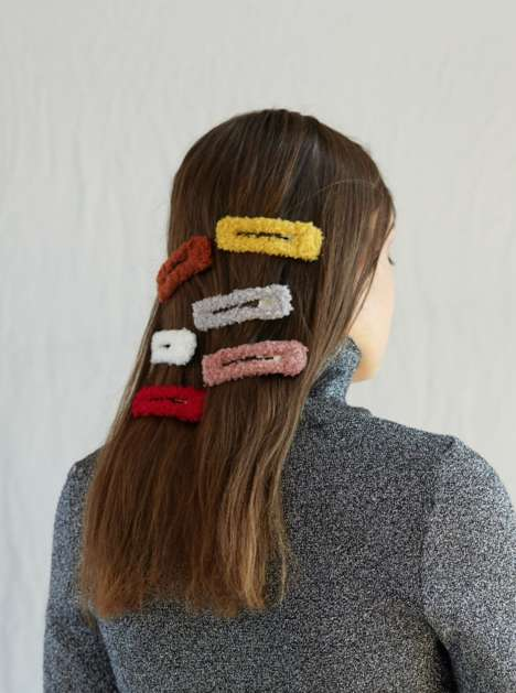 Fuzzy Hair Clip Accessories