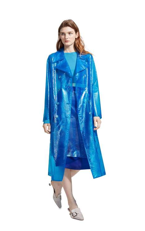 Embossed Plastic Outerwear