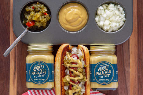Ale-Infused Honey Mustards