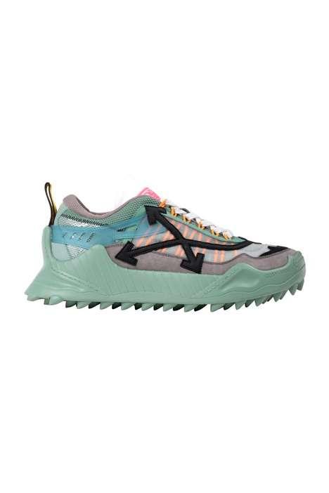Vivid Rubbery Streetwear Sneakers