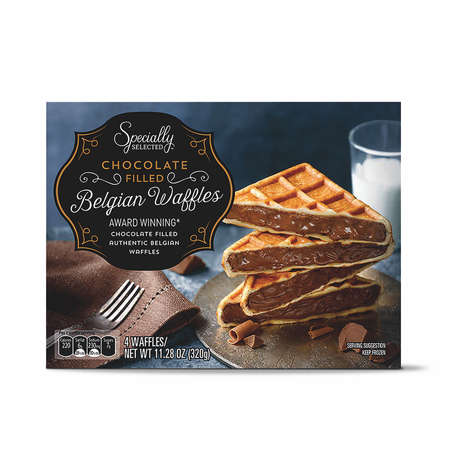 Chocolate-Filled Belgian Waffles