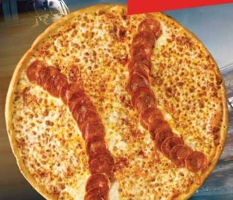 Baseball-Shaped Pepperoni Pizzas