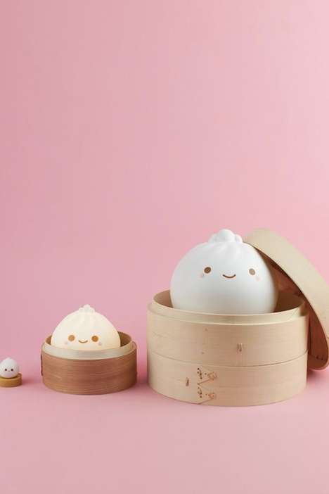 Adorable Dumpling-Themed Lamps