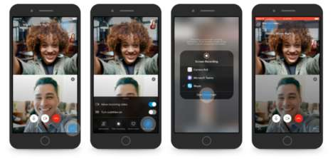 Mobile Screen-Sharing Video Chats