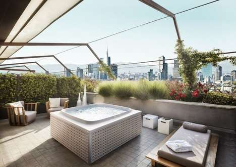 Terrace-Friendly All-Season Hot Tubs