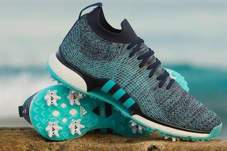 Upcycled Plastic-Made Golf Shoes