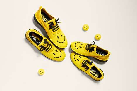 Cheerful Smiley-Themed Shoes