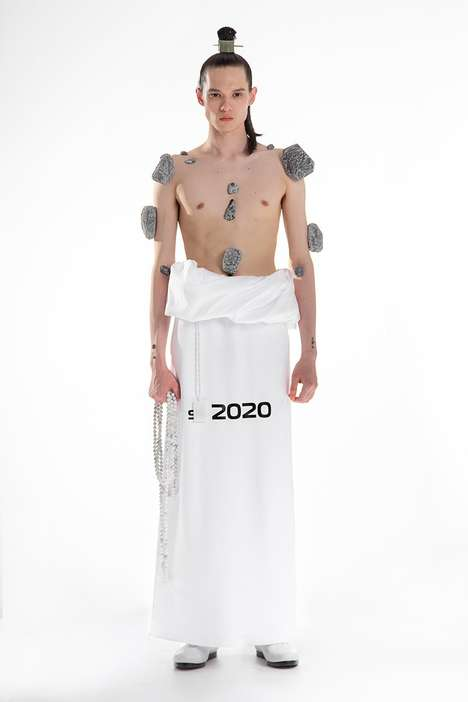 Futuristic Meditative Fashion - Xander Zhou Mixes Digital & Spiritual Motifs in His SS 2020 Capsule