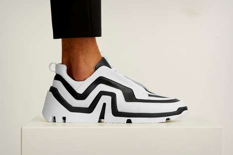 Angular Monochromatic Sneakers