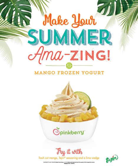 Spicy Mango Frozen Yogurts