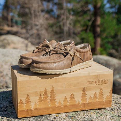Repurposed Wood Shoes