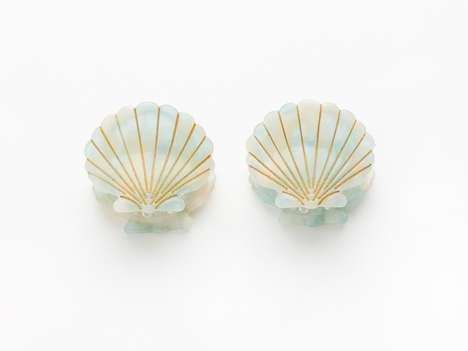 Retro Seashell Hair Clips