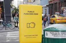 Stress-Relieving Public Punching Bags