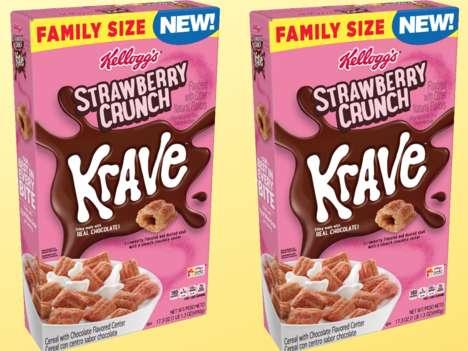 Decadent Strawberry Cereals
