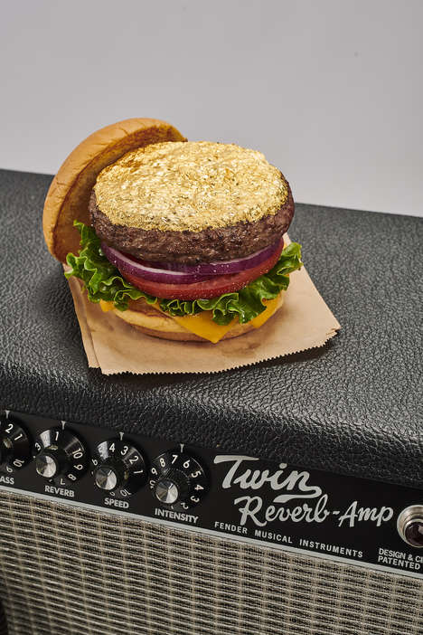 Gold Leaf-Topped Burgers