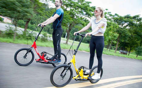 Exercise Machine Step Scooters