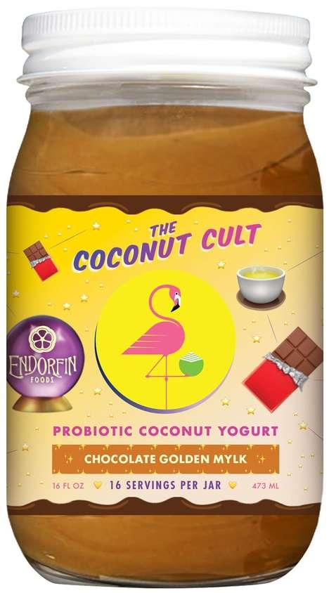 Chocolatey Golden Milk Yogurts
