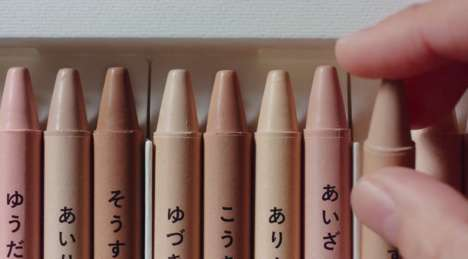 Skin Tone-Colored Crayons - Shiseido Created a Set of Flesh-Colored Crayons Uniquely Matched to Kids