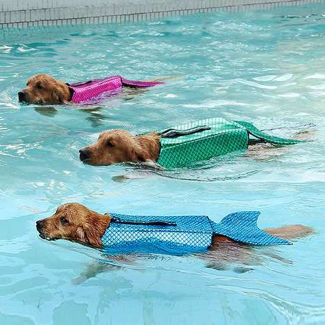 Pooch-Friendly Floatation Devices - The Dog Mermaid Life Jacket Turns Swimming Pups into Mermaids