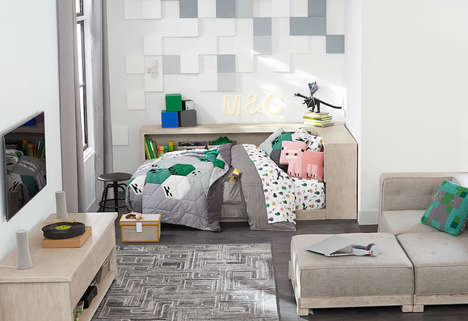 Blocky Bedroom Decor