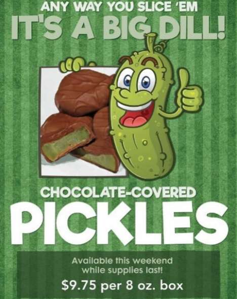 Tangy Chocolate-Covered Pickles
