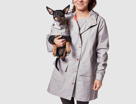 Dog-Matching Rain Jackets - Cloud7's Raincoats for Dogs Match the Human Styles