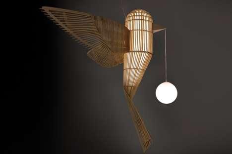 Fluttering Bird-Inspired Lights