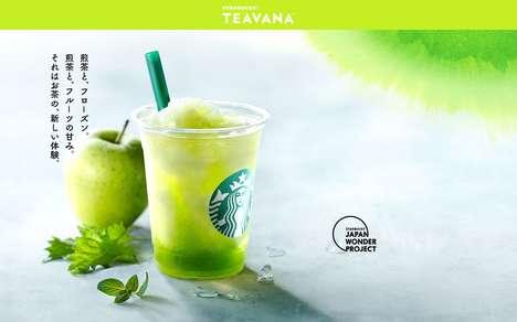 Refreshing Apple-Tea Drinks
