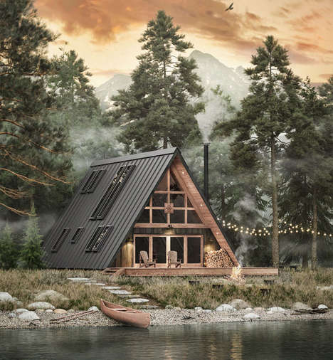 Modernized Mid-Century Cabins