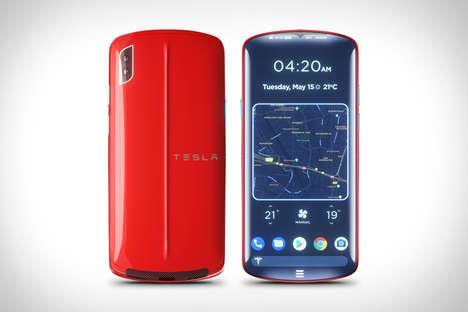 Conceptual Car Brand Smartphones