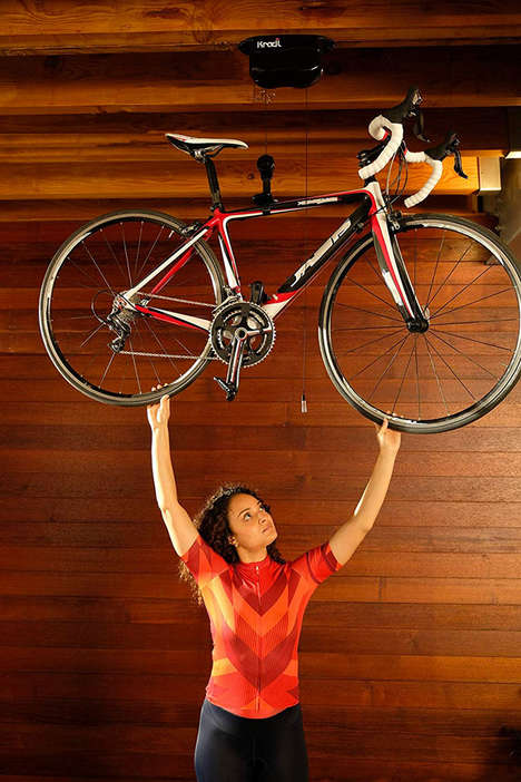 Elevated Analog Bicycle Hoists