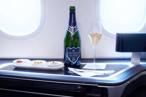 Airline-Launched Sparkling Wines