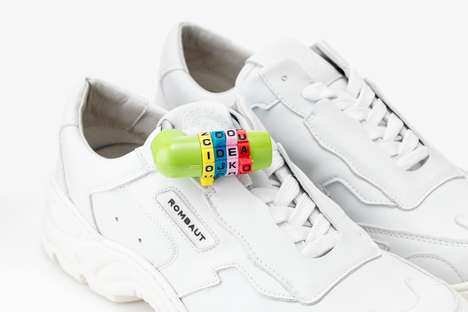 Padlocked Vegan Leather Sneakers