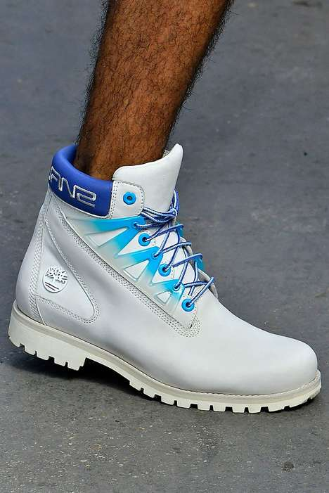 Iconic Blue-Accented Boot Designs