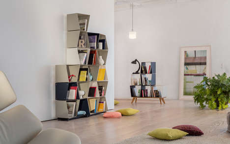 Beehive-Inspired Modular Shelving Systems