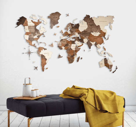 Novel 3D Wooden Maps