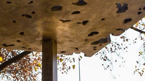 Minimalist Concrete Memorial Pavilions