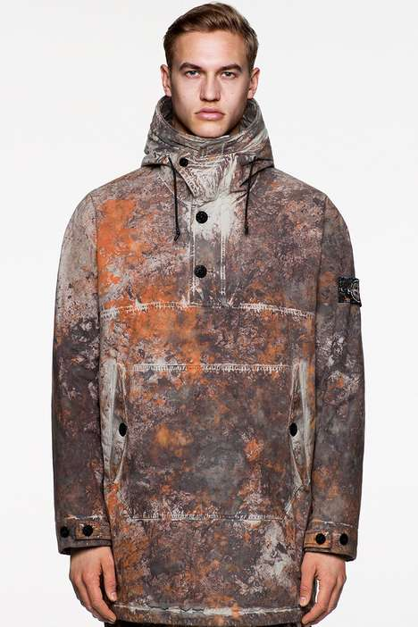 Camo-Styled Technical Fall Outerwear