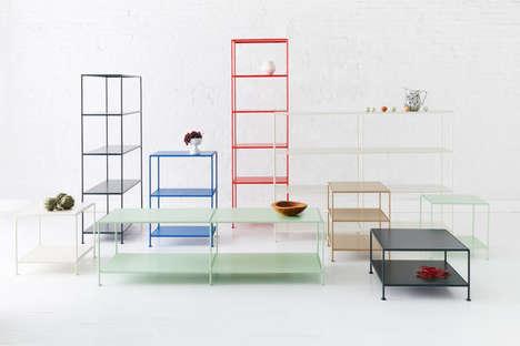 Minimalist Colorful Shelving Units