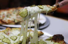 Dill Pickle-Topped Pizzas