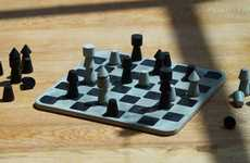 Brutalist Concrete Chess Sets